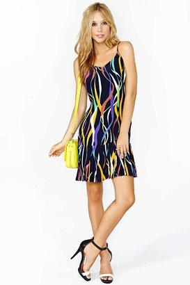 Nasty Gal Technicolor Ribbon Dress
