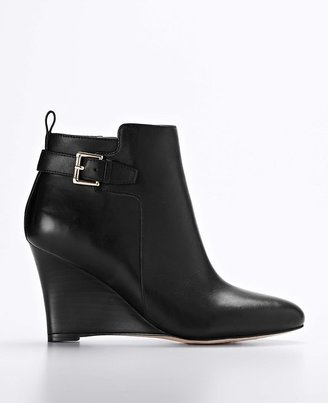 Carter's Carter Buckle Leather Wedge Booties