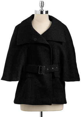 Marc New York Belted Cape Coat