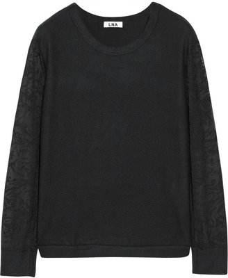 LnA Fitz burnout-effect and modal-blend sweater