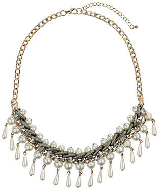 Dorothy Perkins Stunning pearl necklace cream