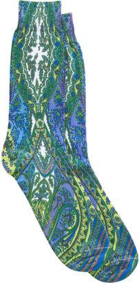 Etro Graphic Paisley Mid-Calf Socks
