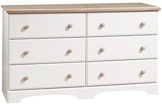 Green Baby South Shore Summer Time Collection Twin Mates Bed - Pure White and Natural Maple