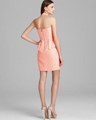 Laundry by Shelli Segal Jacquard Dress - Sleeveless Peplum