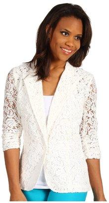 Karen Kane South Beach Shirred Sleeve Lace Jacket (OWH) - Apparel