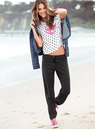 Victoria's Secret Fleece Extended Crop Pant