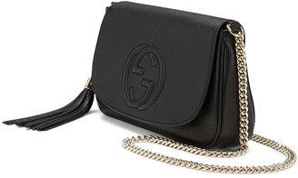 Gucci Soho Medium Leather Shoulder Bag, Black