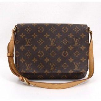 Louis Vuitton very good (VG Brown Monogram Canvas Musette Tango Shoulder Bag