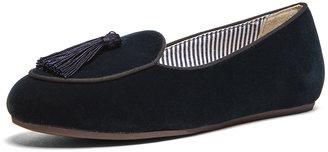 Charles Philip Shanghai Olympia Velvet Loafers in Blue