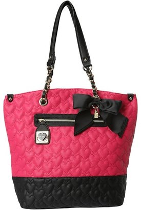 Betsey Johnson Will You Be Mine Tote (Pink) - Bags and Luggage