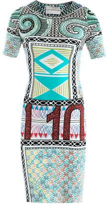 Mary Katrantzou Jigsaw swirl-print jersey dress