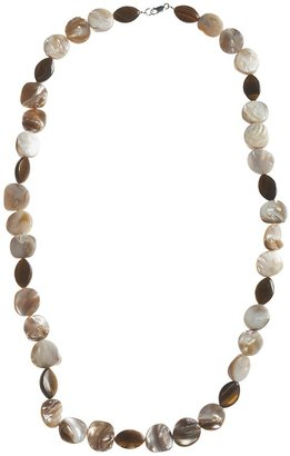 Mother of Pearl Aluma USA Mother-of-Pearl & Tiger's Eye Necklace - 30""