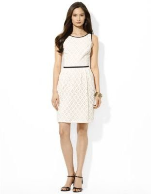 Lauren Ralph Lauren Sleeveless Cotton Lace Dress