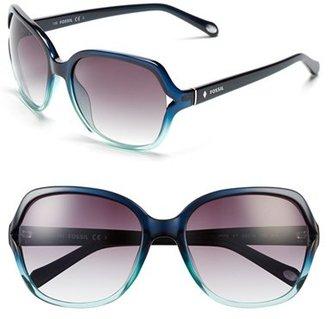 Women's Fossil 'Jesse' 58Mm Oversize Sunglasses - Aqua Fade $55 thestylecure.com
