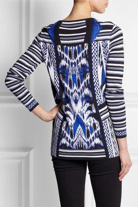 Roberto Cavalli Ikat-intarsia knitted sweater