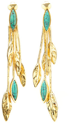 Aurelie Bidermann Malibu Blue Long Earring