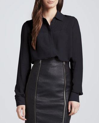 Rachel Zoe Capri Long-Sleeve Silk Blouse