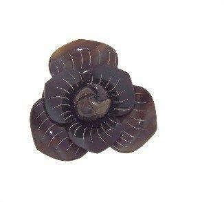 Other Designers Indochine Carved Black Horn Flower Hair Tie