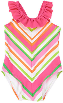 Gymboree Chevron Ruffle One-Piece Swimsuit