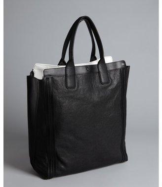 Chloé black leather shopper tote
