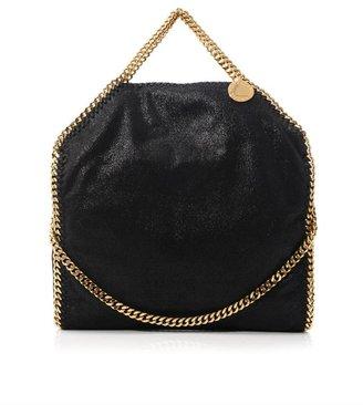 Stella McCartney Falabella small black three-chain bag