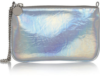 Stella McCartney Holographic faux leather pouch