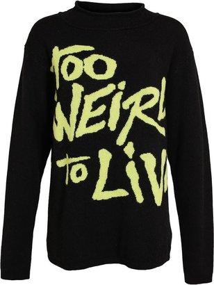 Jeremy Scott Too Weird To Live Intarsia Wool Jumper
