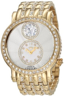 Juicy Couture Women's 1901073 Queen Couture Gold Plated Bracelet Watch $325 thestylecure.com