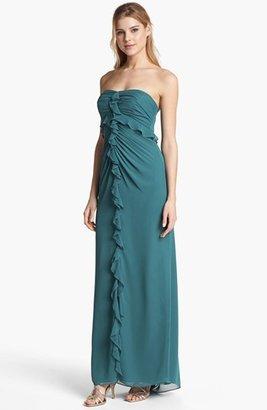 Jill Stuart Jill Strapless Ruffled Chiffon Gown