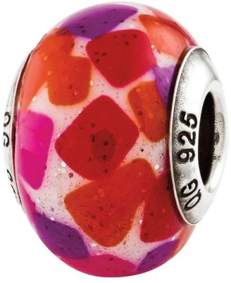 Murano Prerogatives Sterling Pink Purple Italian Glass Bead