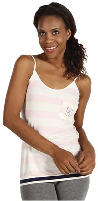 Tommy Hilfiger Rugby Stripe Cami w/Pocket (Pink Heather Rugby Stripe) - Apparel