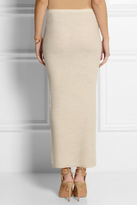 Donna Karan Stretch-cashmere tube maxi skirt