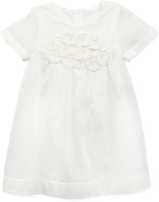 Chloé Cotton-Organdy Dress, White, Sizes 2-5