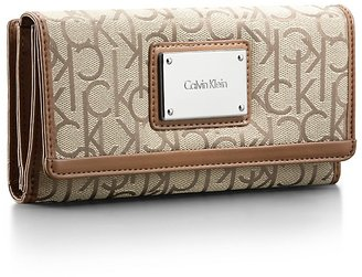 Calvin Klein Logo Jacquard Print Mega Wallet