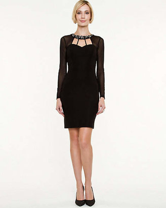 Le Château Tech Stretch Cutout Fitted Dress