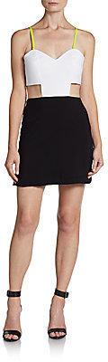 Naven Two-Tone Cutout Mini Dress