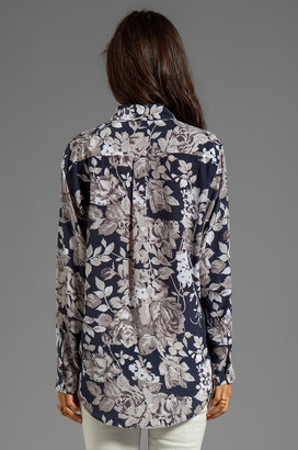 Equipment Countryside Floral Printed Signature Blouse