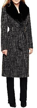 JCPenney Worthington® Belted Wrap Wool Coat