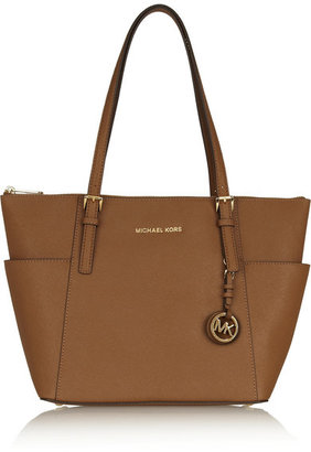 MICHAEL Michael Kors - Jet Set Textured-leather Tote - Tan $250 thestylecure.com