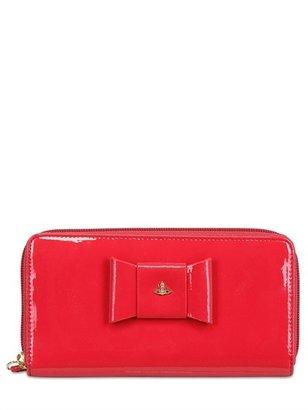 Vivienne Westwood Bow Patent Leather Zip Around Wallet