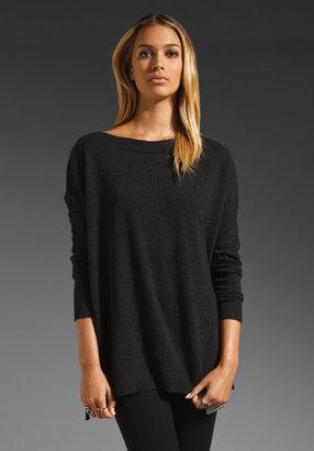 Vince Rib Trim Boatneck Sweater