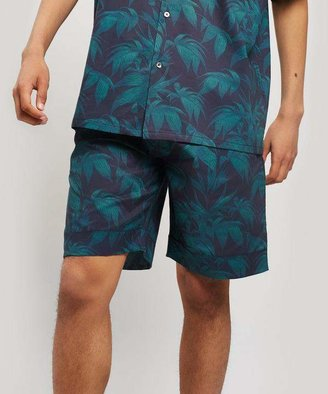 Desmond & Dempsey Byron Print Cotton Pyjama Shorts