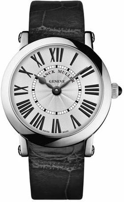 Franck Muller Ladies Stainless Steel Ronde Watch with Alligator Strap