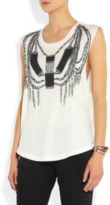 Sass & Bide Tough It Out embellished jersey top