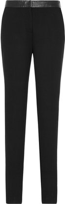 Reiss Blake LEATHER TRIM TROUSERS