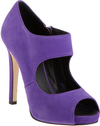 Barneys New York Cutout Peep-Toe Bootie