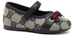 Gucci Infant's & Toddler's GG Signature Web Mary Jane Flats
