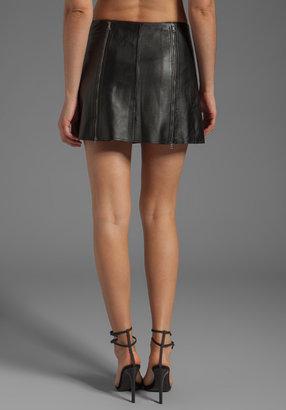 BCBGMAXAZRIA Leather Mini Skirt