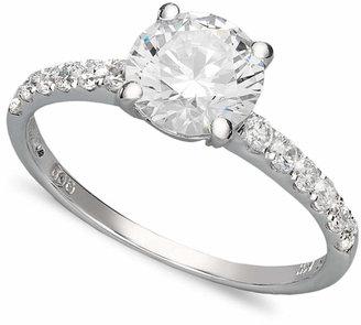 Arabella 14k White Gold Ring, Swarovski Zirconia Wedding Ring (2-3/4 ct. t.w.) $600 thestylecure.com