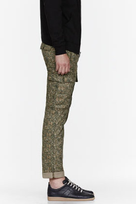 Levi's Green camouflage cargos